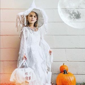 Chasing Fireflies White Wedding Witch Costume 6